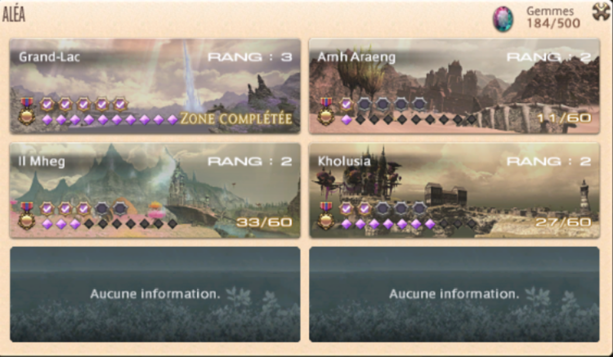 Incomplete Areas (French Screenshot)