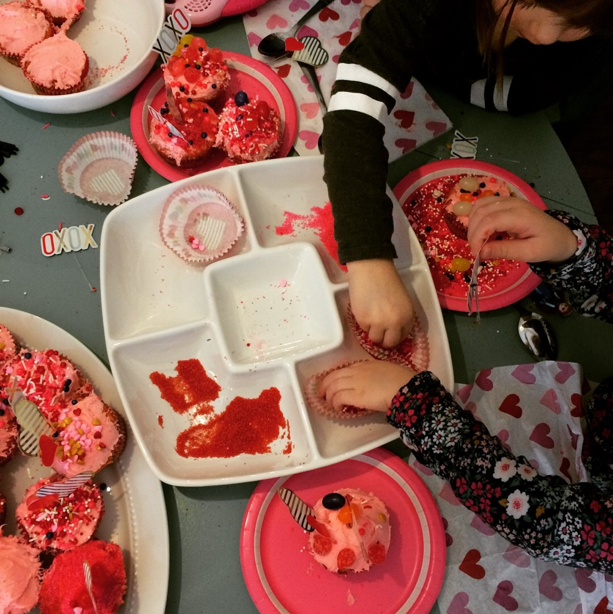 Making holiday themed cupcakes for every holiday is just one of the cheesy traditions my kids and I enjoy together.