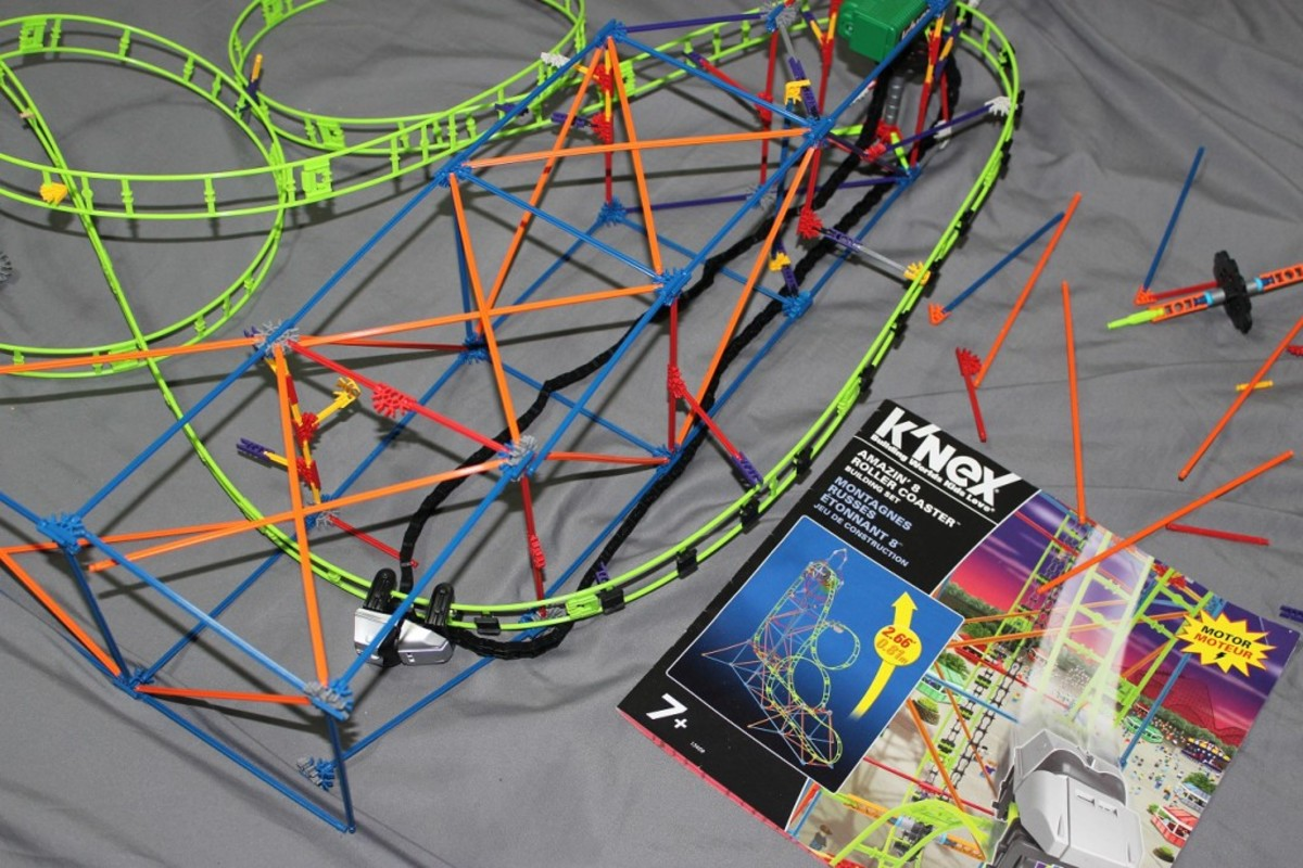 My son regularly takes apart and puts back together this K'Nex Roller Coaster set. Now I just need him to have that same passion for making his bed.