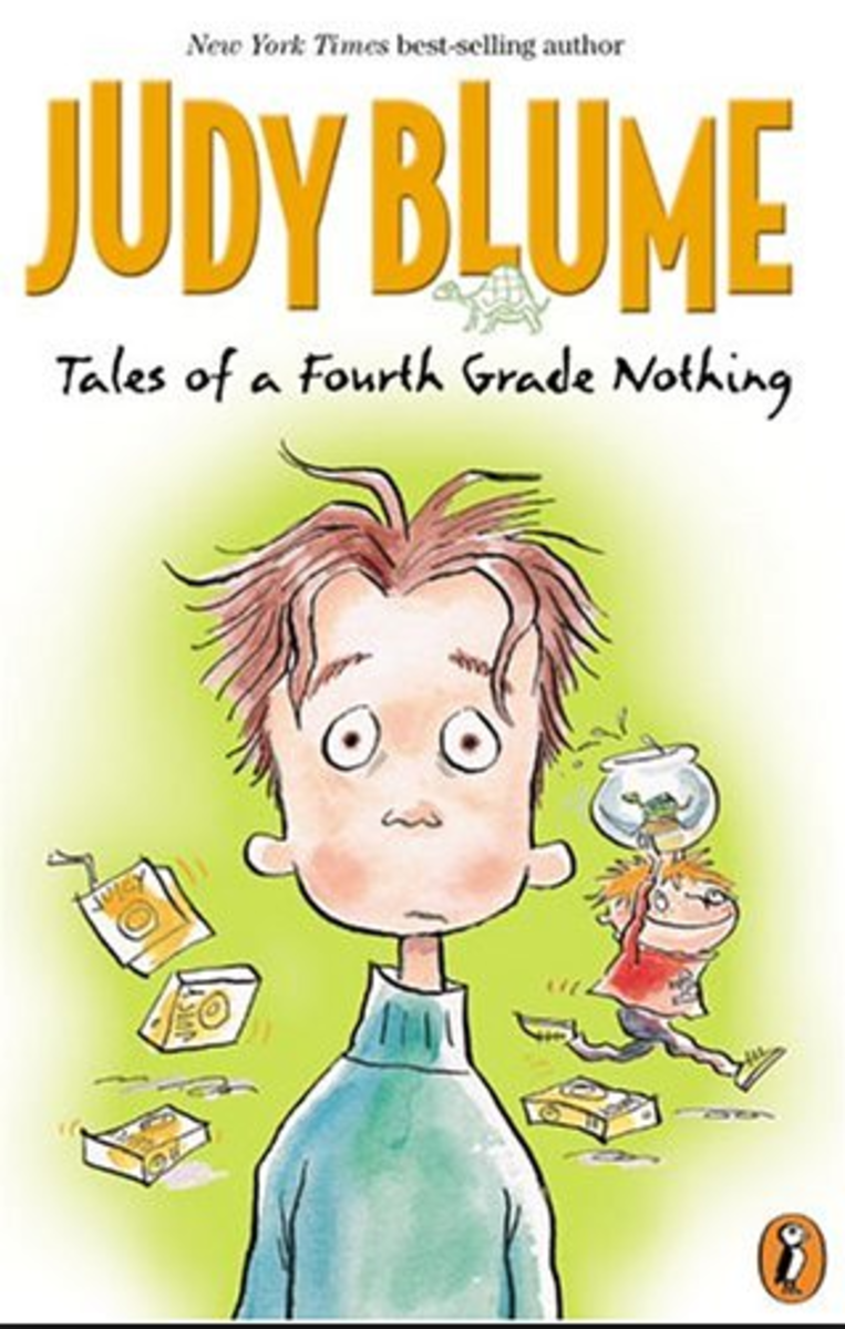 "The book was originally titled ""Peter, Fudge,and Dribble"", but another children's book called ""Peter Potts"" had just come out, so Judy Blume had to find another title. She sent 20 choices to her editor, and Tales of a Fourth Grade Nothing won."