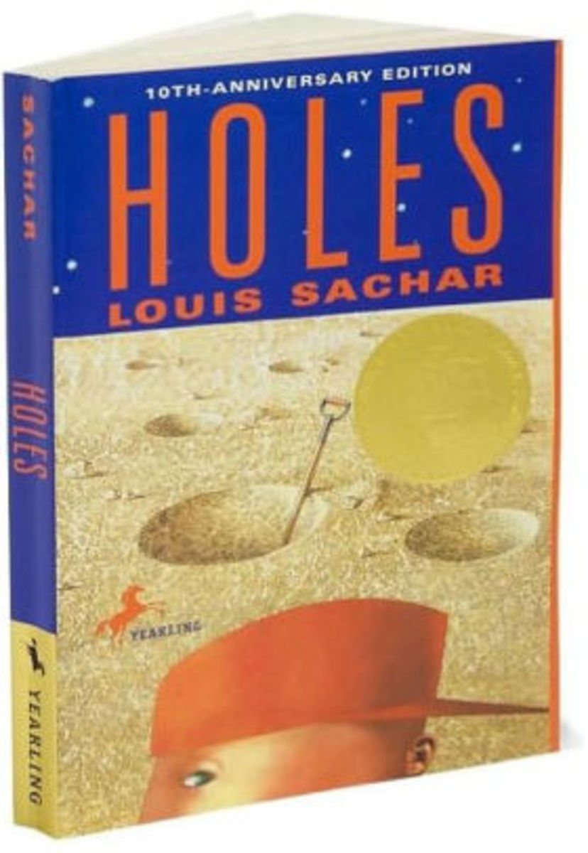 "Before he was an author, Louis Sachar (rhymes  with cracker), had some interesting jobs. He sold cleaning products door-to-door, was a ""yard teacher"" at an elementary school, worked in a sweater warehouse, and practiced law."