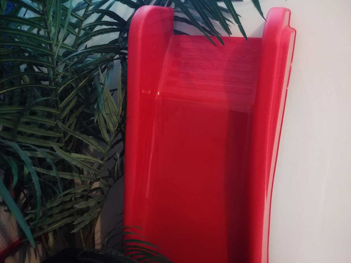 This is our slide, we managed to squeeze it in a corner in the living room.