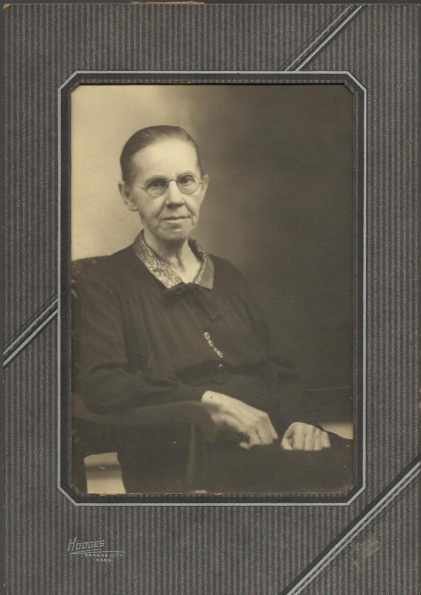 My great-aunt, Bertha McGhee. The portrait was taken by Hodges Studio in Kansas City, Kansas.