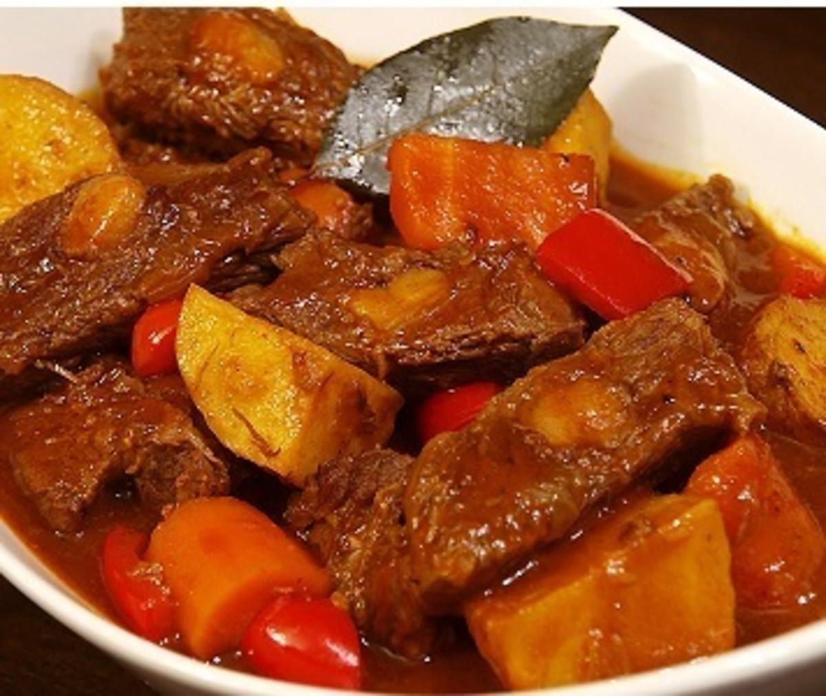Filipino mechado (stewed beef)