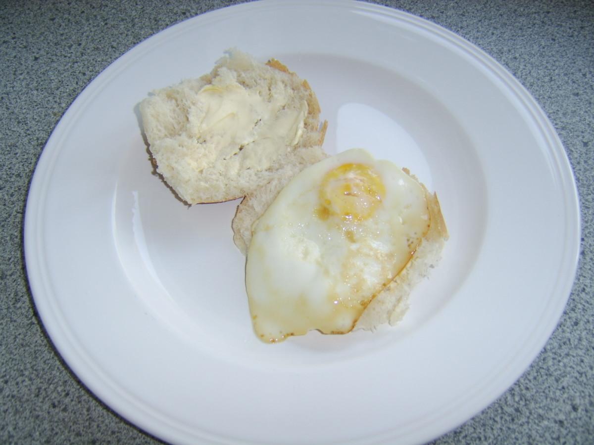 Fried Egg on Bread Roll