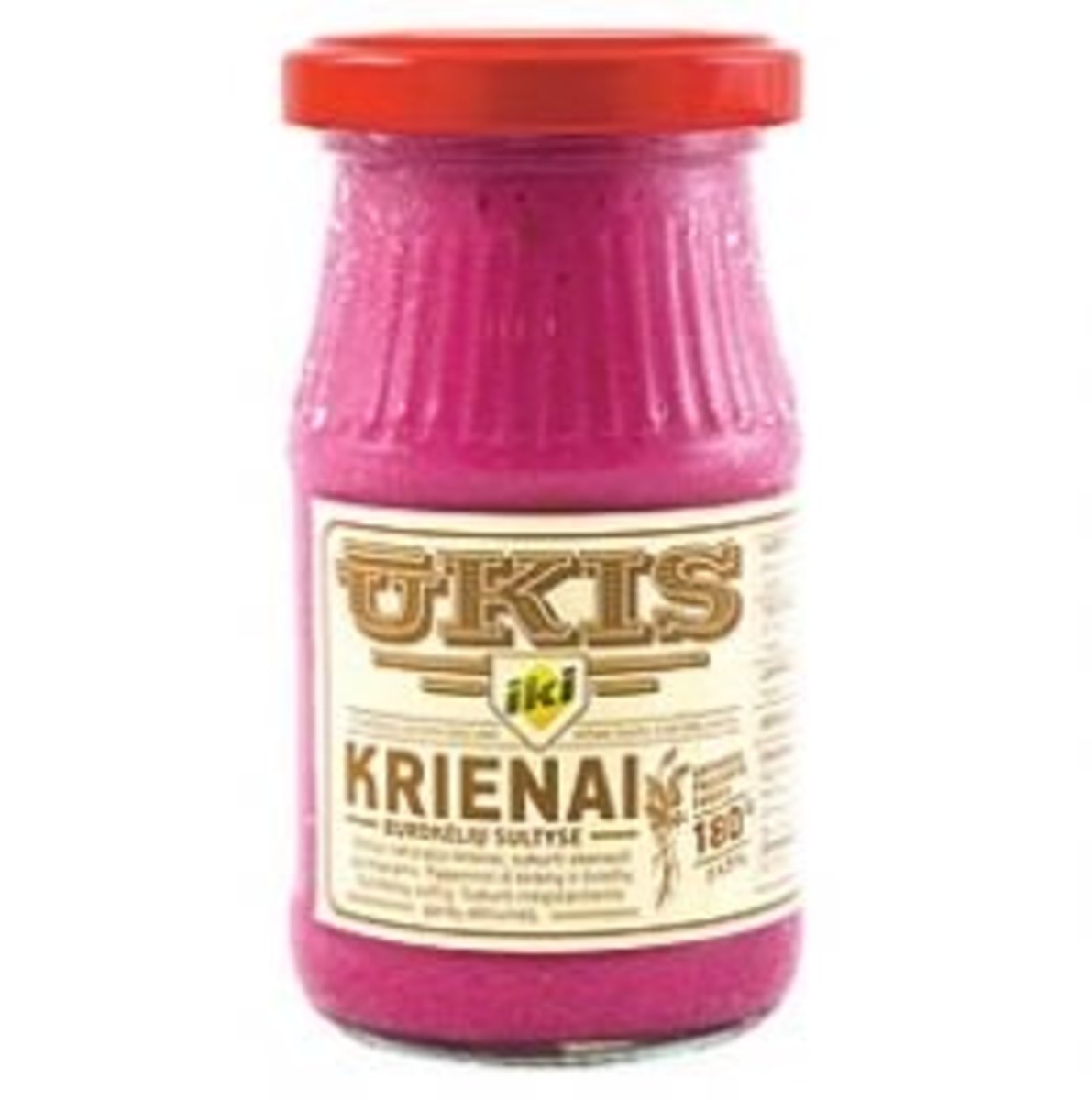 A jar of krienai from a Lithuanian supermarket.