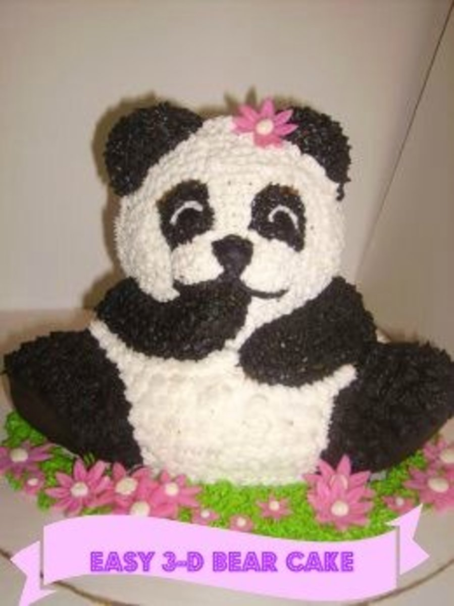 How To Make a 3D Bear Cake