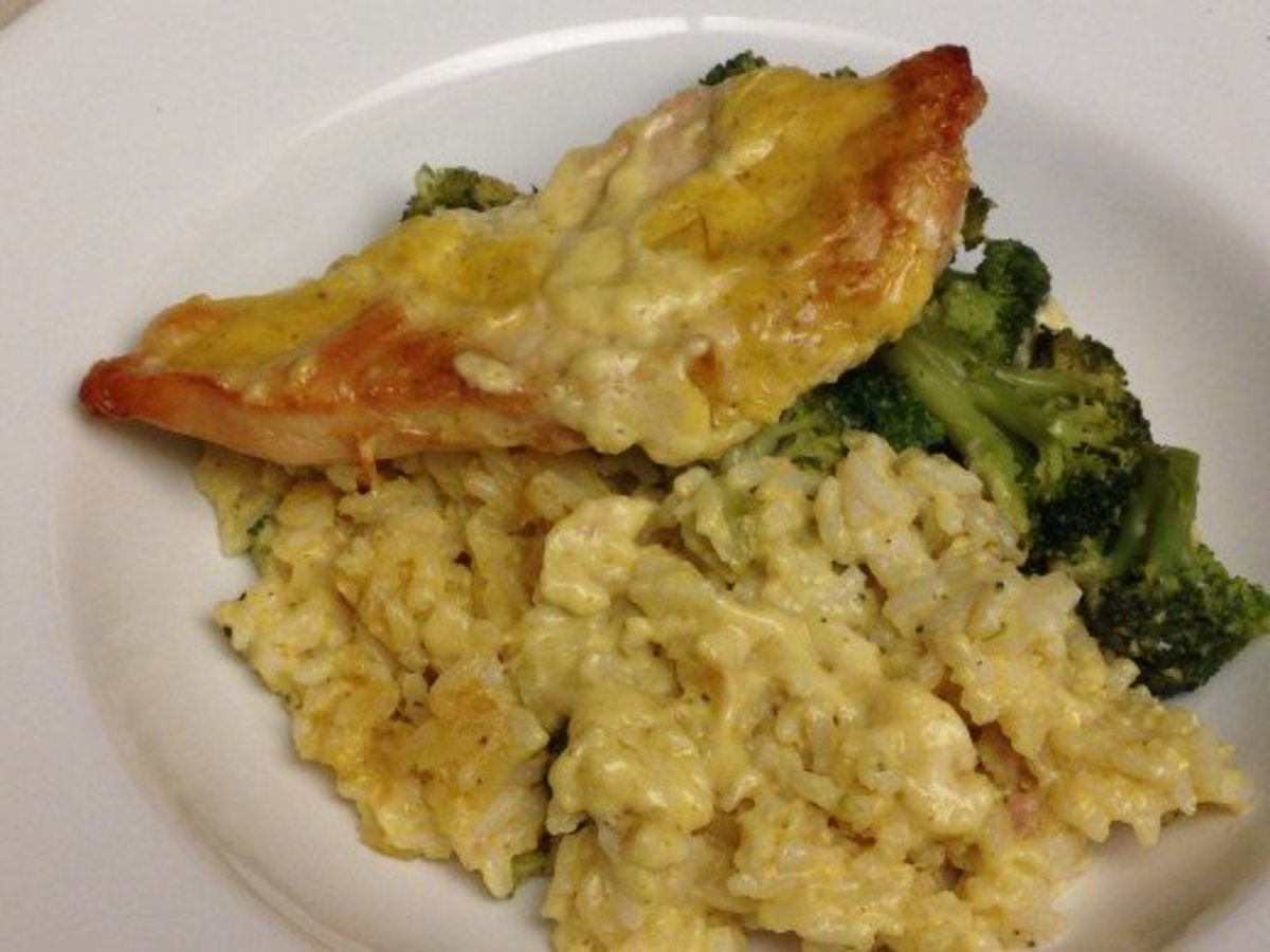 Chicken Divan made with mayo and cream soup