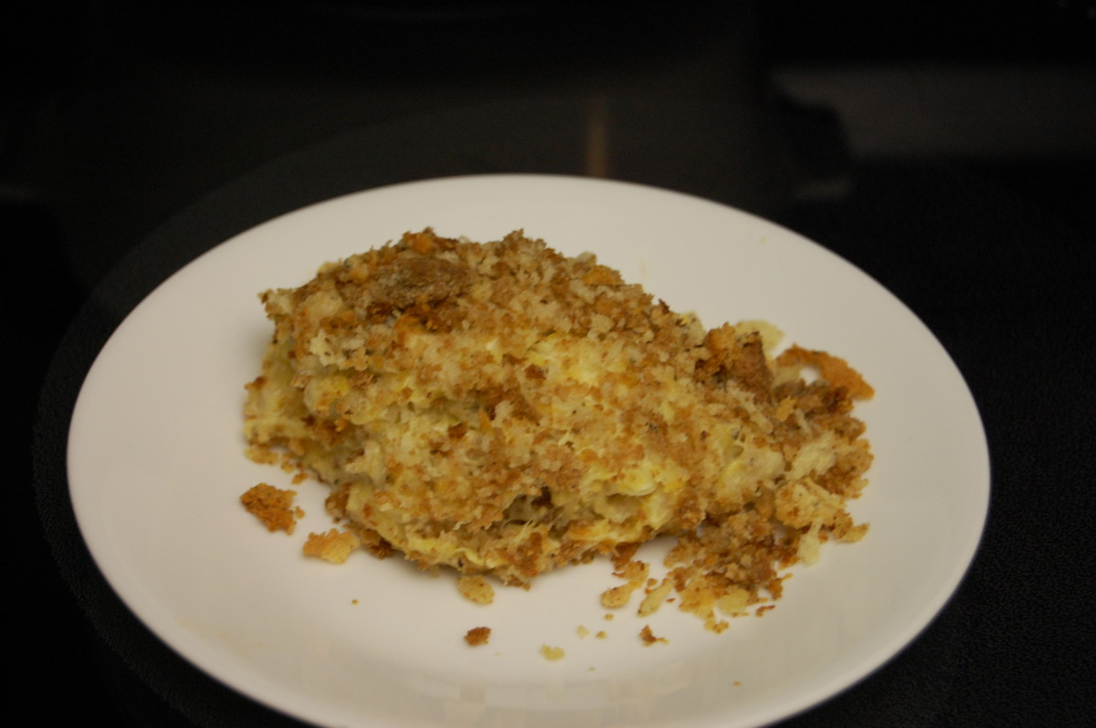 Squash Casserole made with yellow squash