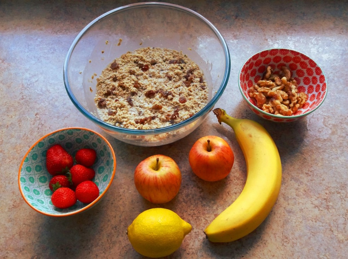 Bircher muesli ingredients
