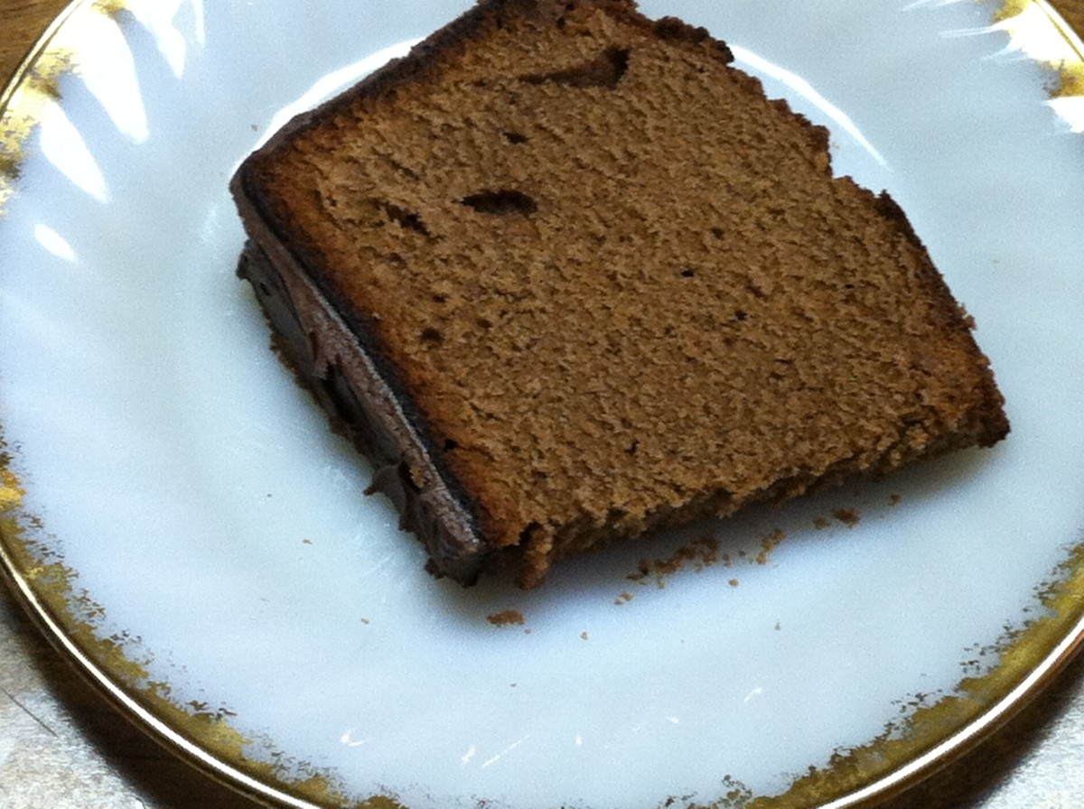 Slice of Mom's Chocolate Pound Cake