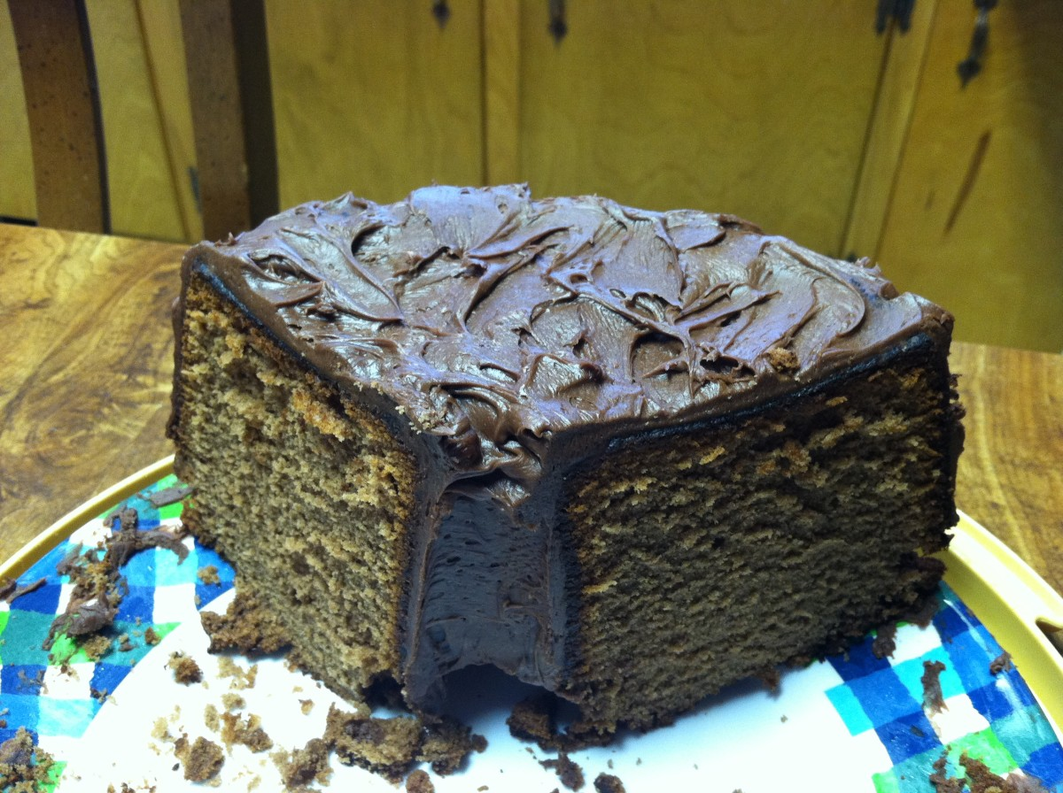Mom's Chocolate Pound Cake with Chocolate Frosting
