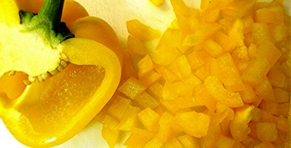Diced yellow pepper