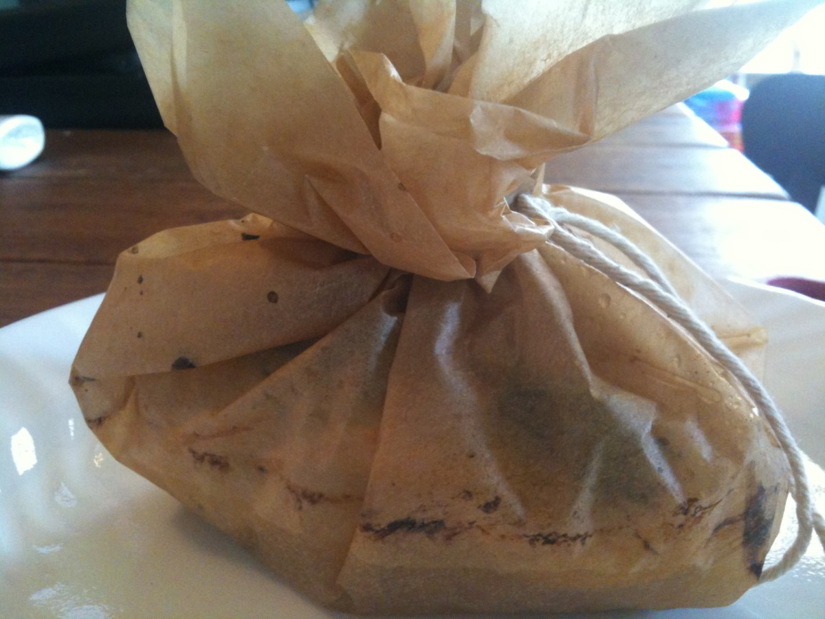 If using parchment, just tie the little package with butcher's twine. It's a present!