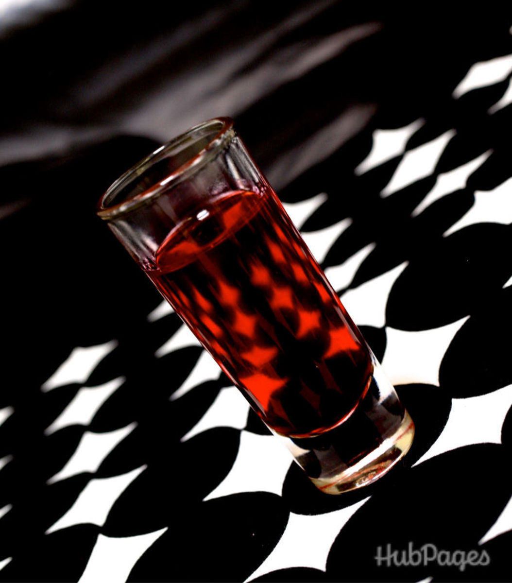 Or try this spooky Halloween tequila shot, the Blood Bath.
