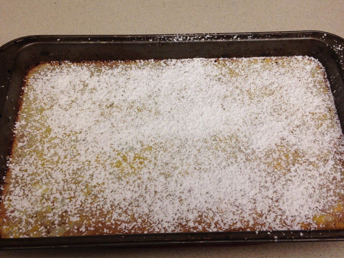 Dust with powdered sugar.