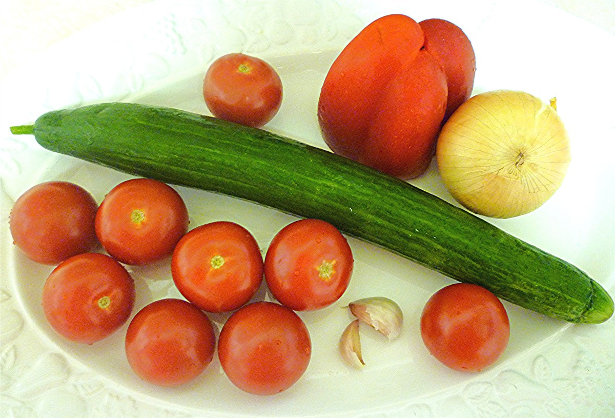Gazpacho Fresh Ingredients