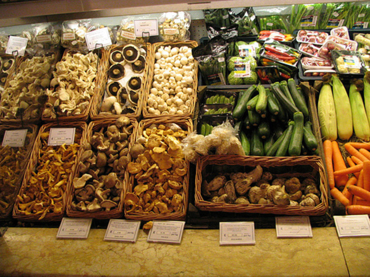 A wide variety of vegetables can go into veggie burgers. Mushrooms are a popular option.