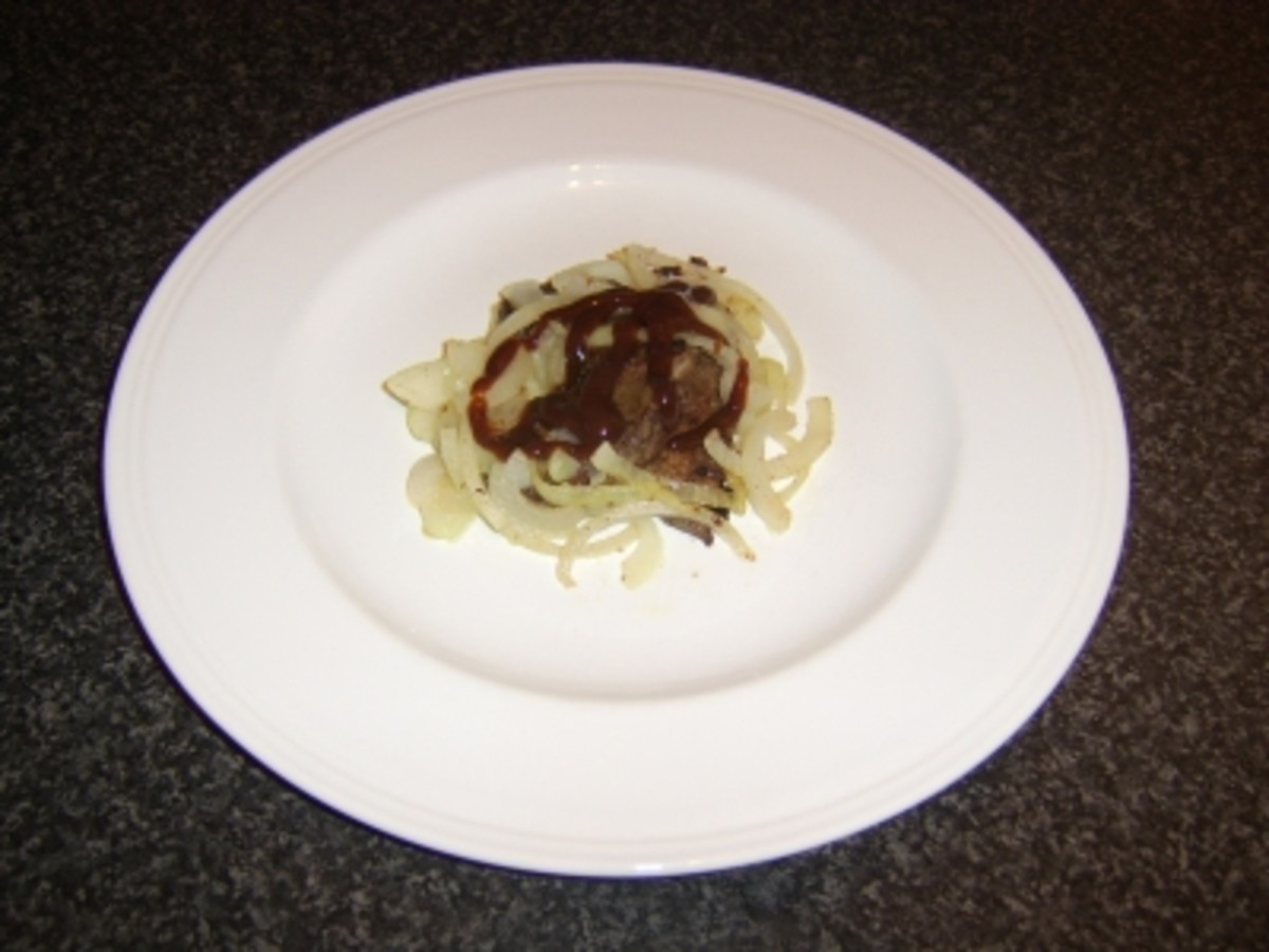 Lamb's Liver and Onions with HP Sauce