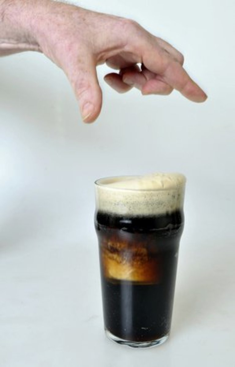 Dropping the shot into the pint.