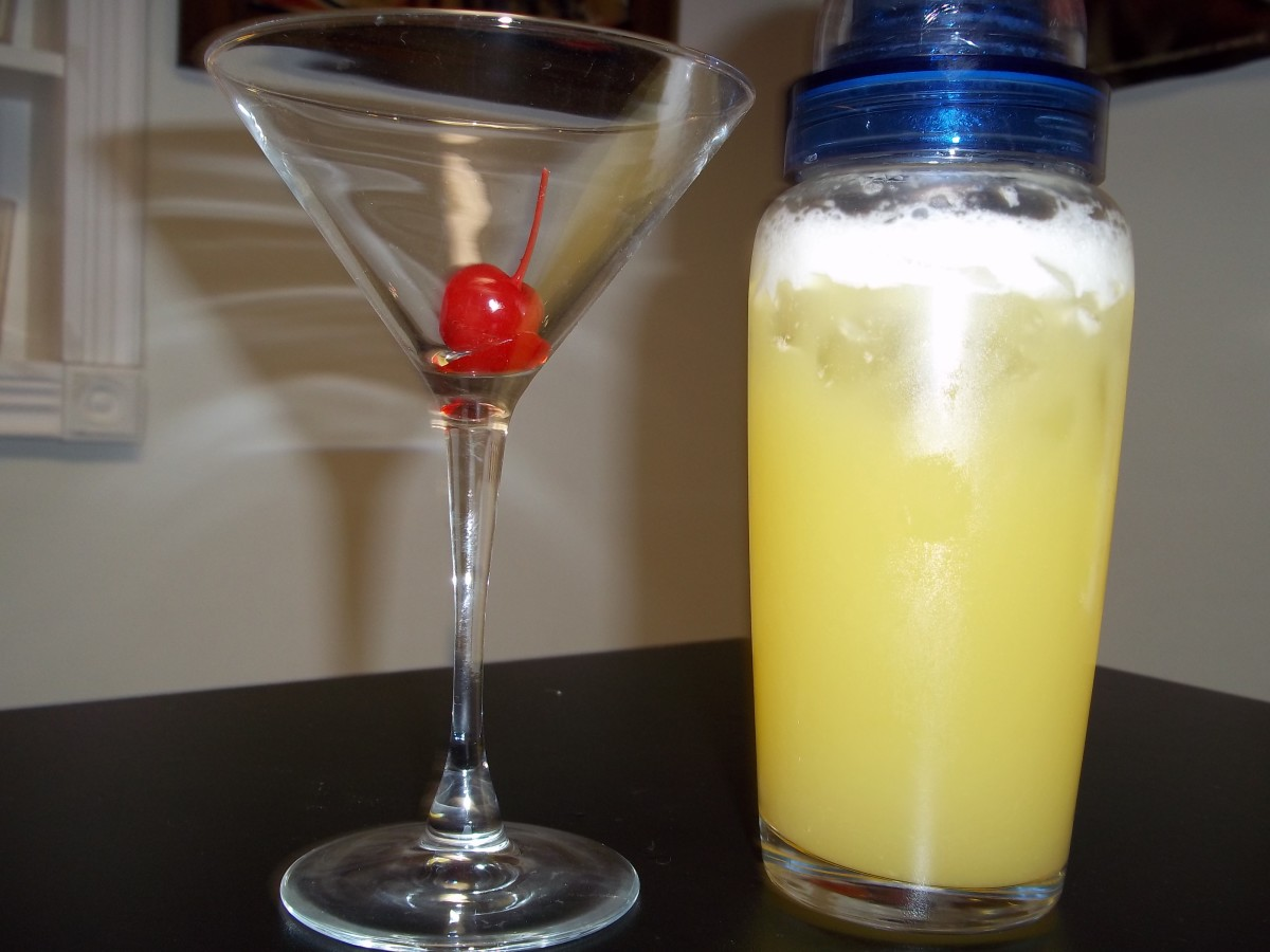 Martini Glass and Shaker at the Ready