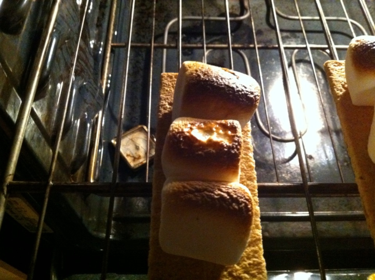 Marshmallows roasting in the oven
