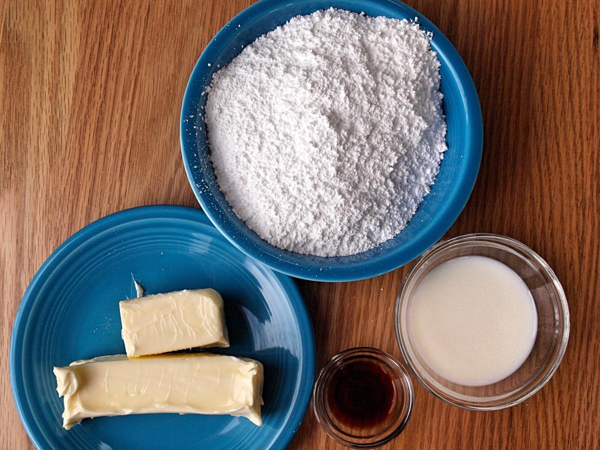 Vanilla frosting ingredients