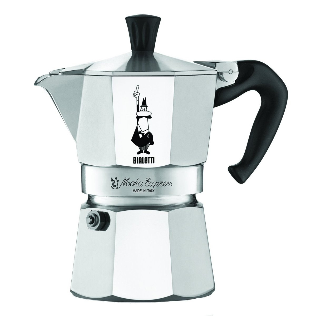 The Bialetti uses a classic design that dates back to the 1930's.  It is attractive, functional, affordable, and durable.  I currently have the ,6-cup version but there are lots of other sizes available according to needs.