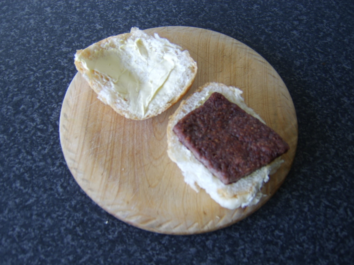 A roll and Lorne (square) sausage.