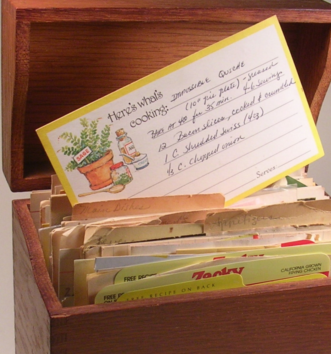 The impossible quiche recipe had been hiding in an old box of recipe cards for 30 years.