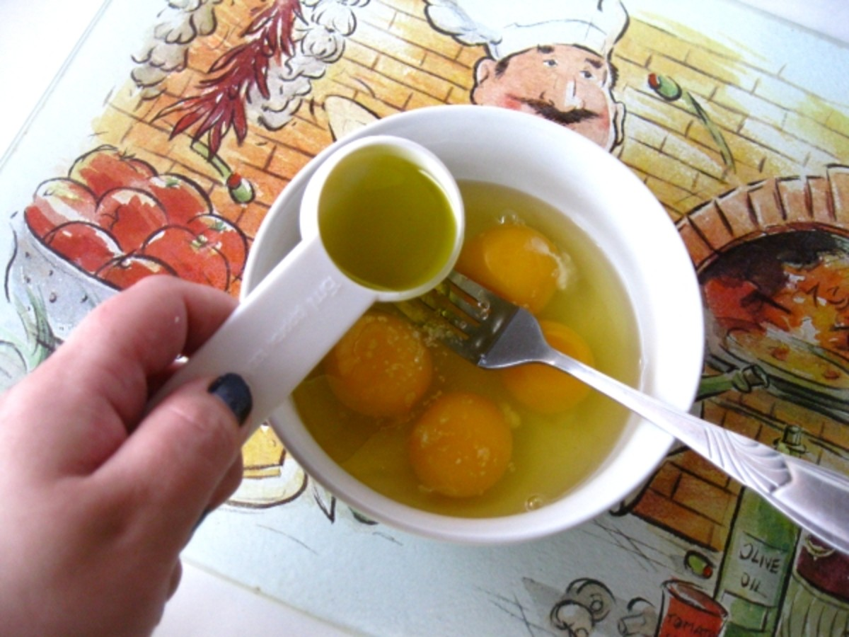When Olive Oil is among your fresh pasta ingredients, be sure to add it to the mix at the same time you add your eggs.