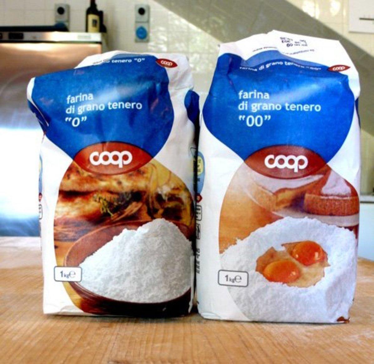 """00"" wheat floour is the top choice when making handmade pasta dough."