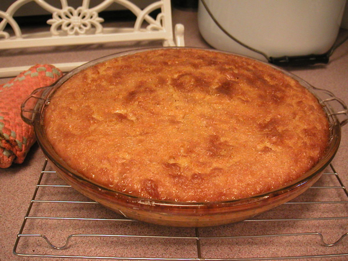 This is how the pie looks after it cools for a few minutes after it's baked.