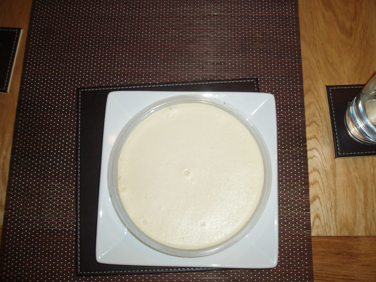 White Cheese Cake a Perfect Pudding