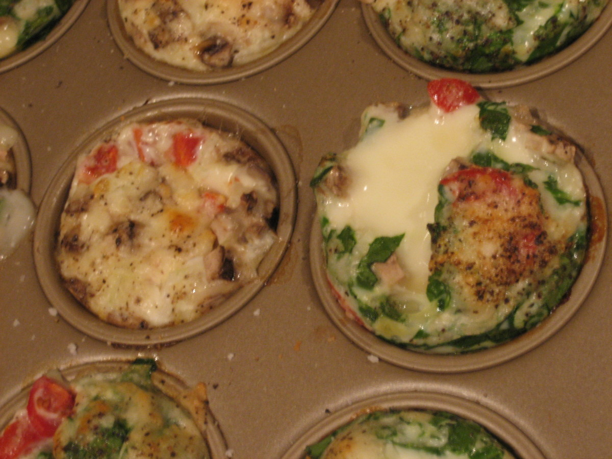South Beach Diet Friendly Breakfast To Go Mini Egg Cup