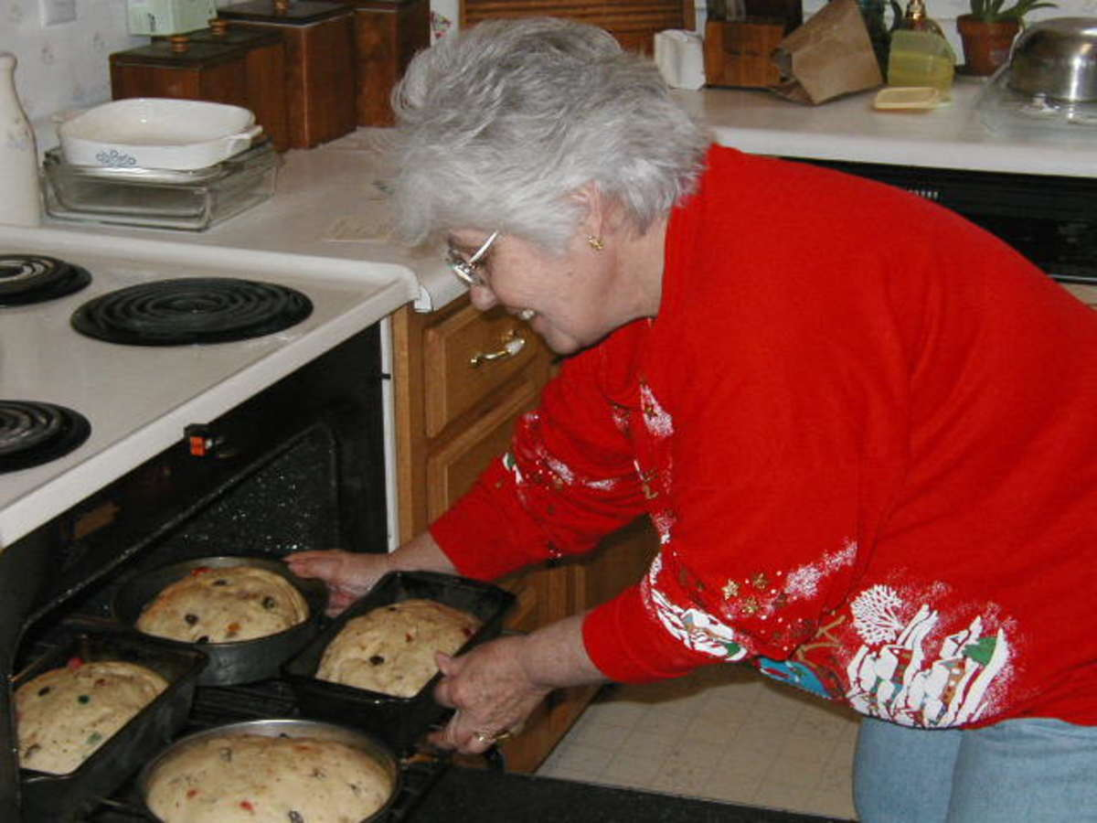 Baking Russian Easter Bread for the holidays.
