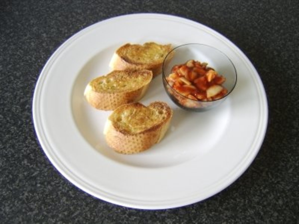 Indian Spiced Onions Wwith Bruschetta