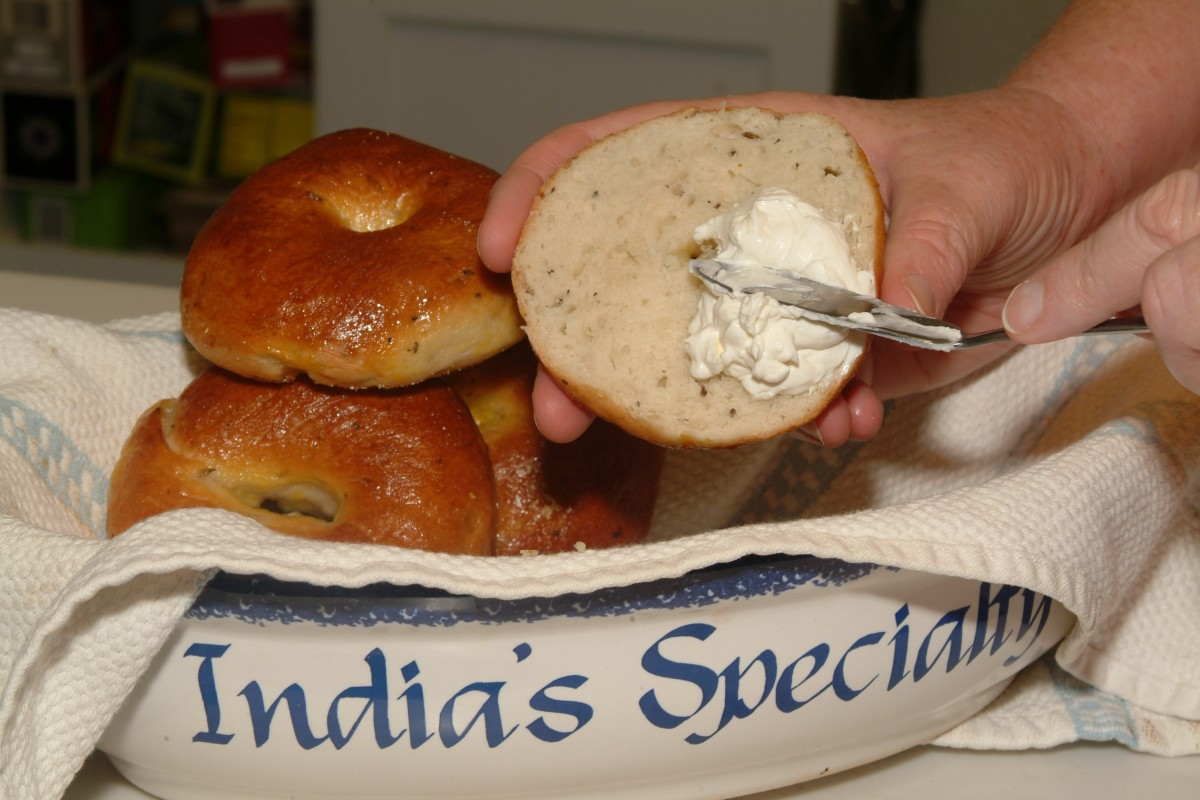 Cream cheese on a warm, freshly baked (by you) New York-Style bagel just can't be beat!