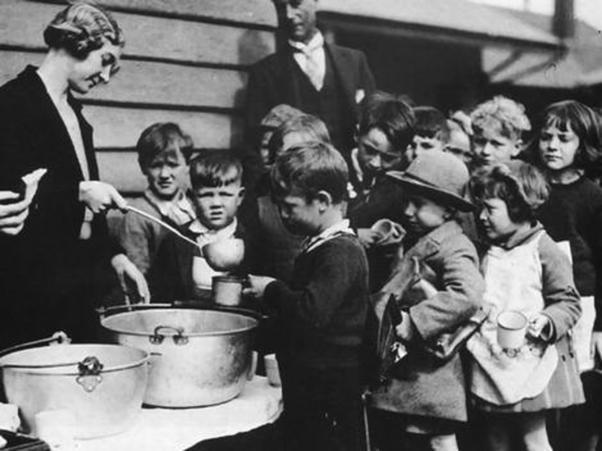 A Soup Line During the Depression