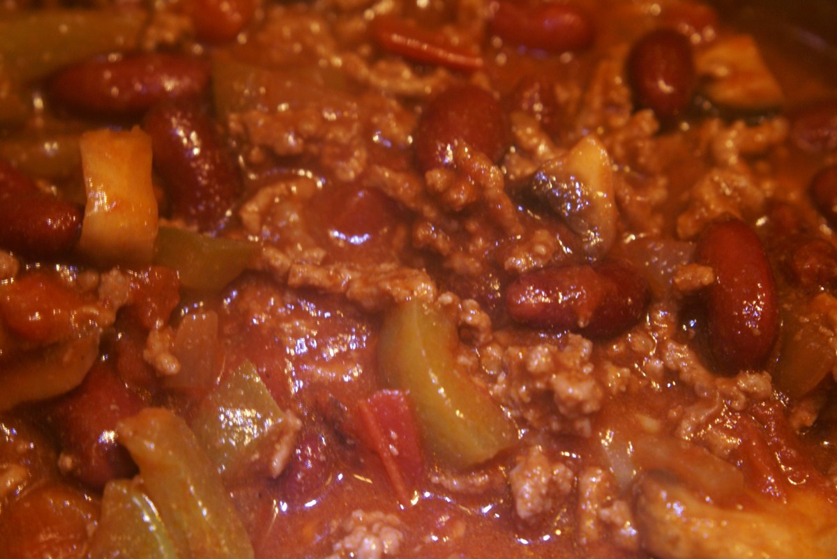A close-up on the chilli.