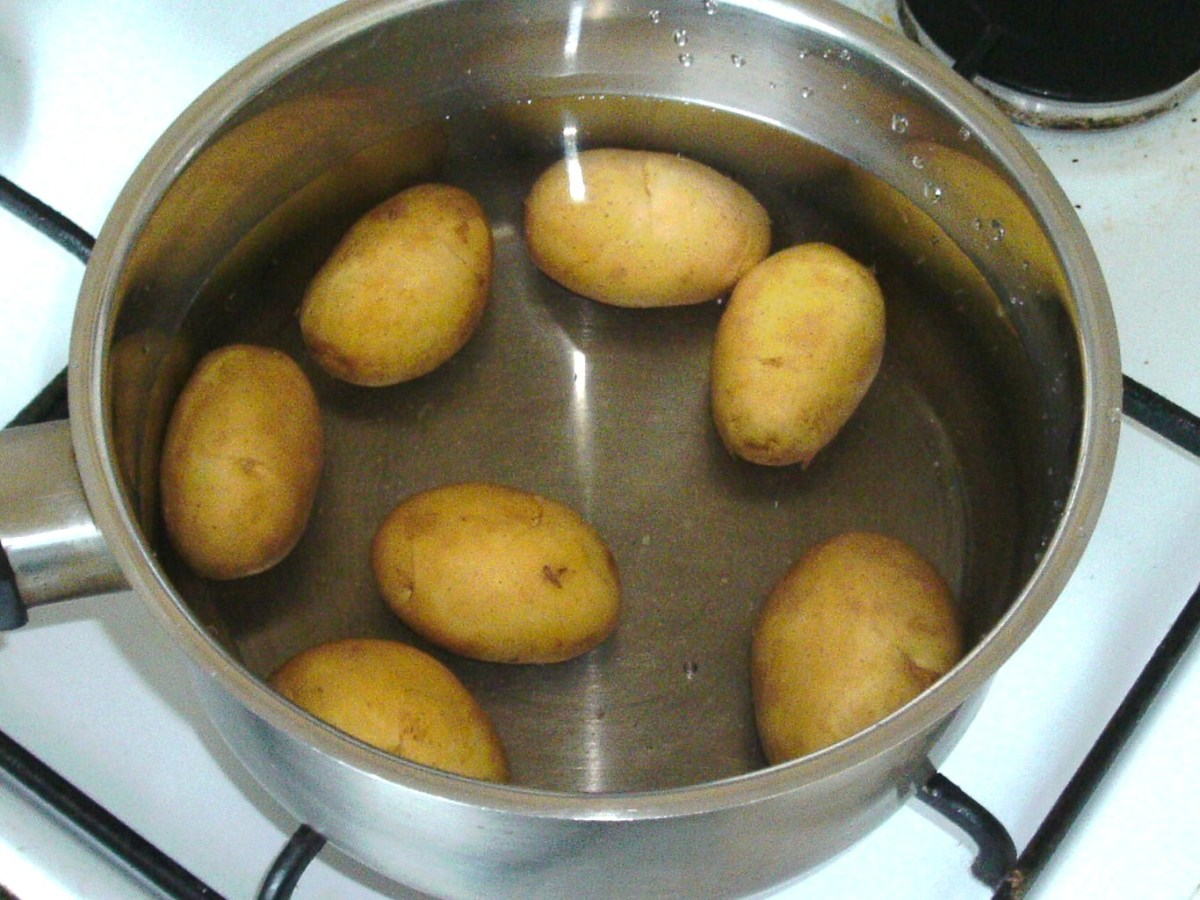 Potatoes ready for boiling