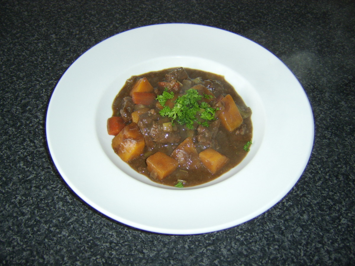 This delicious venison and root vegetable stew makes the perfect warming dinner on a cold winter's night.