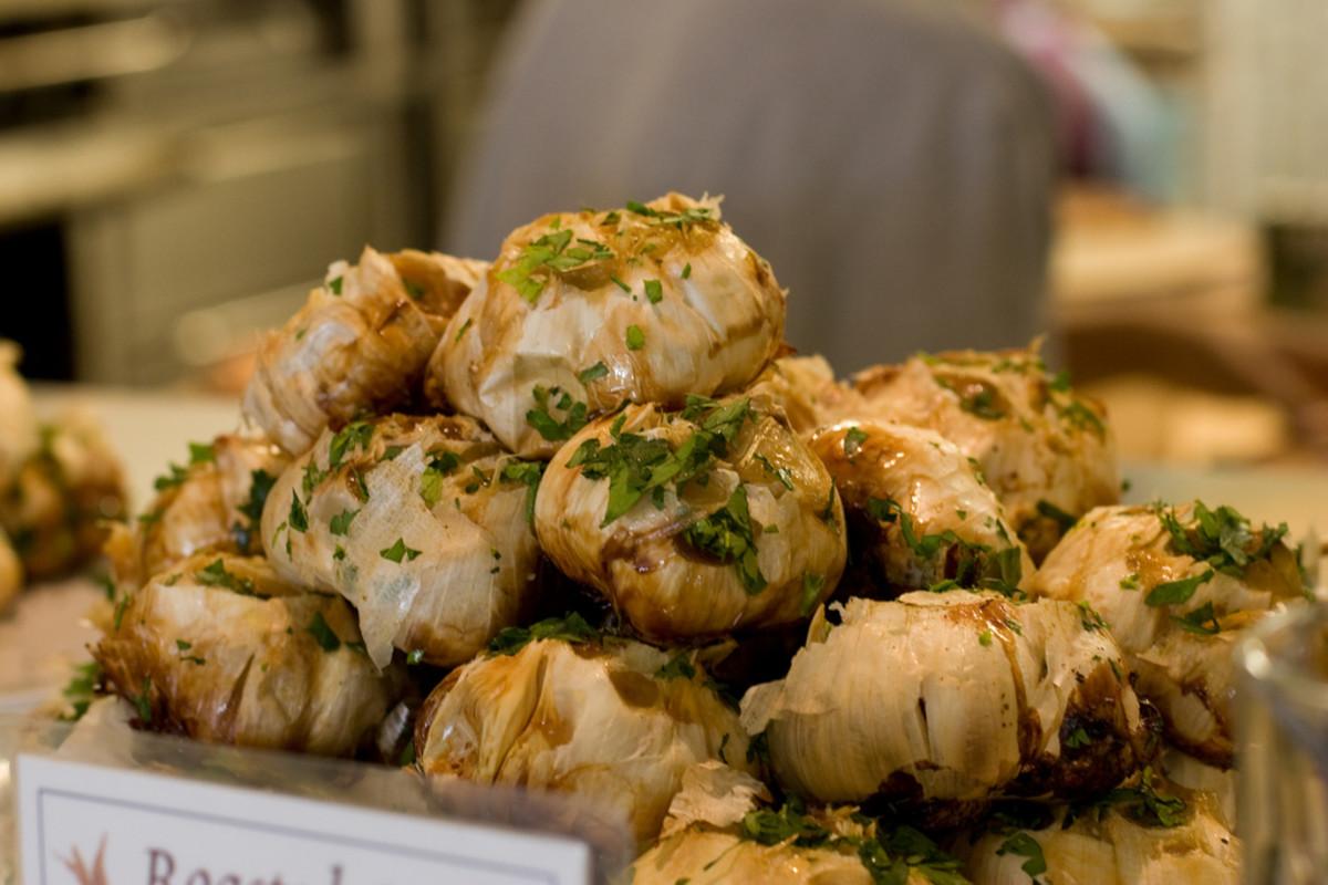 Delicious roasted garlic