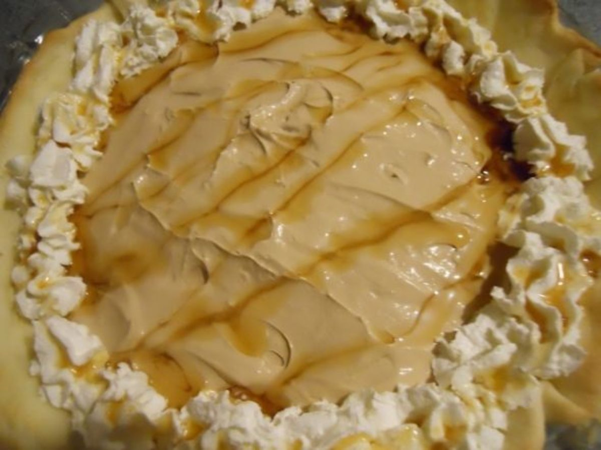 Mix 1/8 cup maple syrup with 2 drops maple extract, and drizzle over pie.