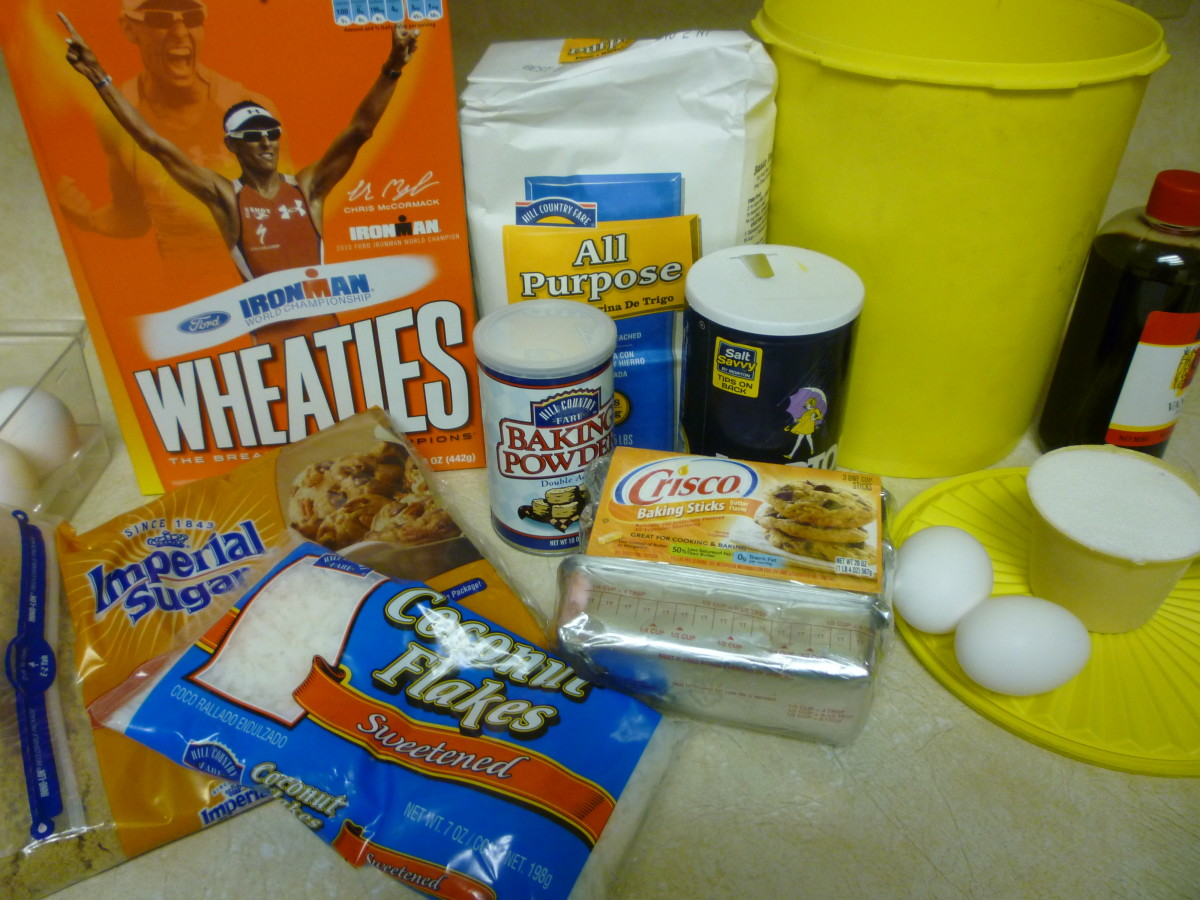 Ingredients for the Wheatie Cookies