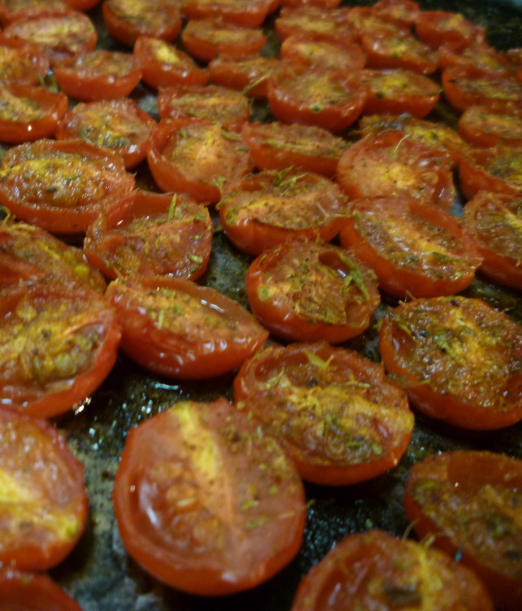 Baked Grape Tomatoes