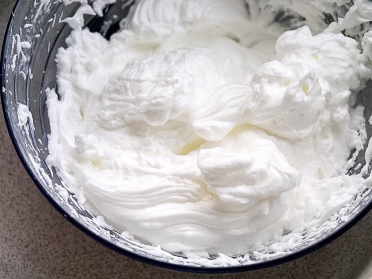 Egg white that has been beaten into peaks is useful in a variety of recipes.