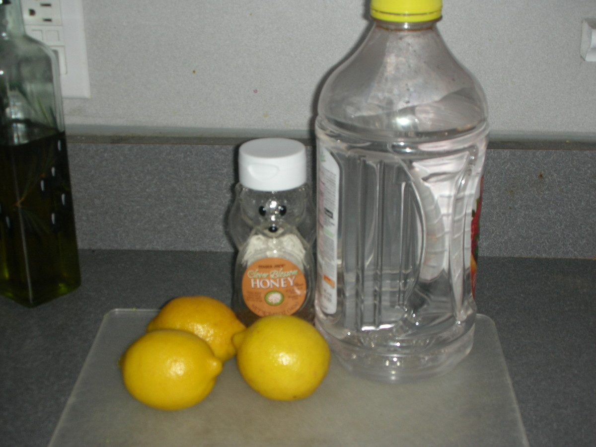 Ingredients for lemonade