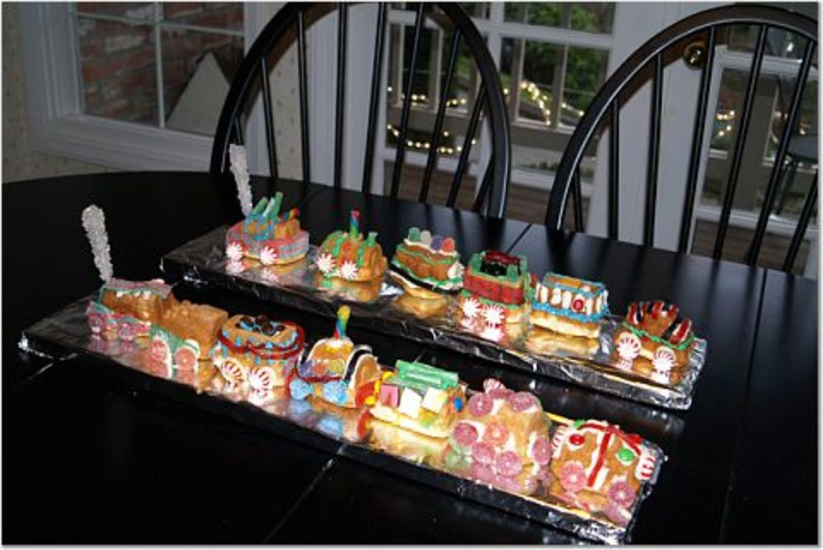 Completed cake trains