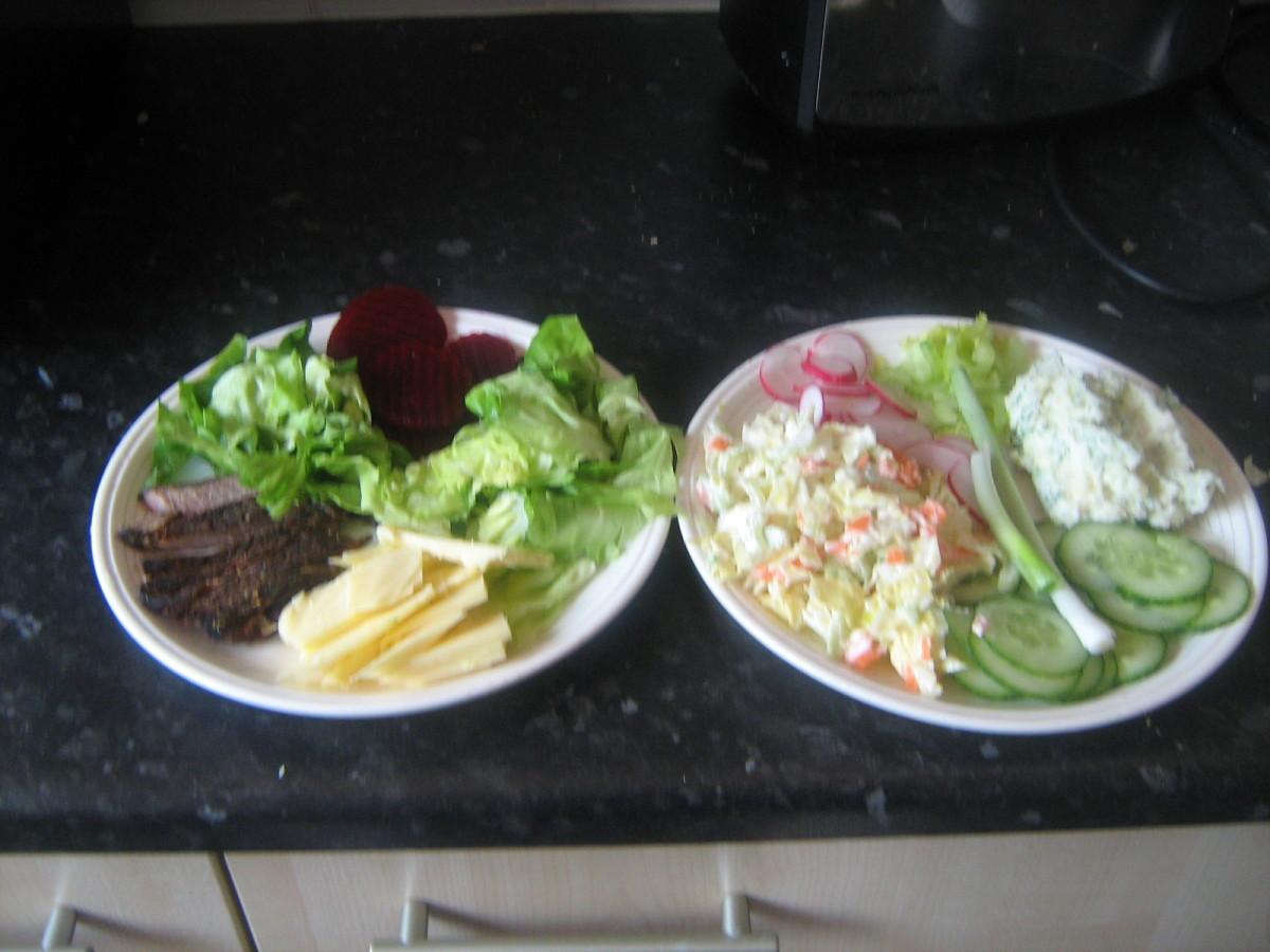 Coleslaw salad sandwiches